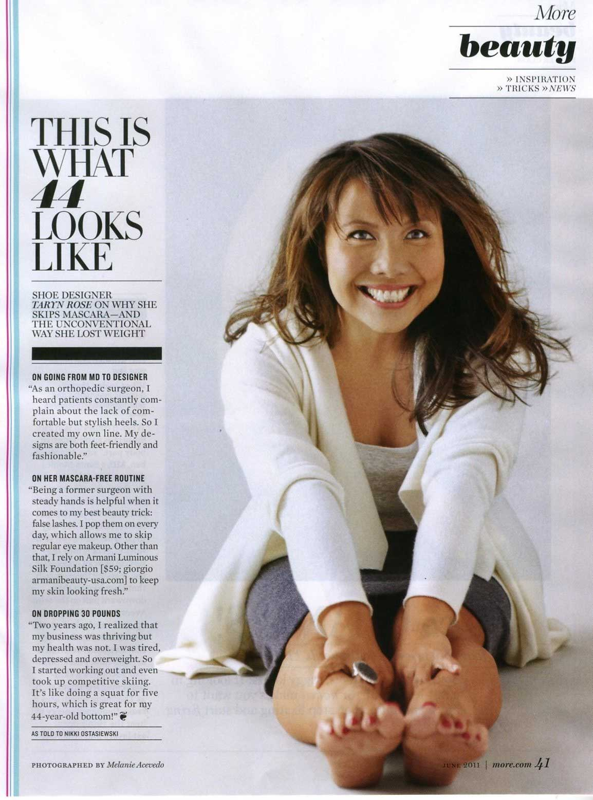 More Magazine November 2014 Issue: Taryn Rose & MORE Magazine
